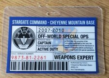 Stargate Command SG-1 Identification Badge-Captain Off Monde Special Ops Cosplay