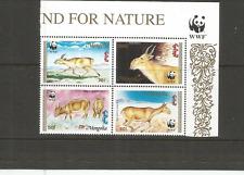 MONGOLIA 1995 WWF SCOTT 2209-12 MNH