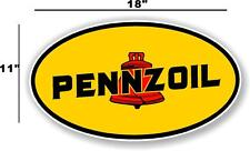 """(PENN-1) 18"""" EARLY PENNZOIL OIL LUBSTER front DECAL GAS PUMP SIGN GASOLINE"""