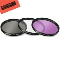 67mm Multi-Coated 3 Piece Filter Kit (UV-CPL-FLD) for Nikon CoolPix P900...