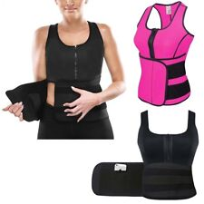 Ladies Girl Slimming Belly Neoprene Vest Sauna Sweat Body Shaper Sports Medium M