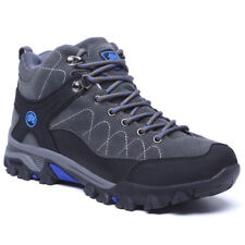 Men Winter Faux Fur Lining Snow Boots Casual Trail Hiking Shoes Lace Up Sneakers