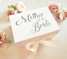 Mother of the Bride Keepsake Box, Magnetic-Closure, A5 Deep White Box