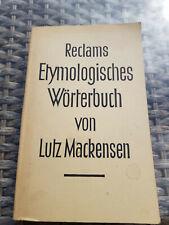 Reclam - Etymologisches Wörterbuch von Lutz Mackensen - 1966