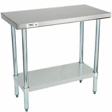 "18"" x 36"" Stainless Steel Work Prep Shelf Table Commercial Restaurant 18 Gauge"