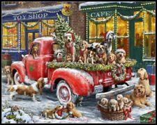 Doggone Christmas - Chart Counted Cross Stitch Patterns Needlework DIY DMC