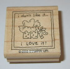 I Don't Like It I LOVE It Rubber Stamp Thank You Stampin' Up! Gift Heart EUC