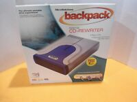 "Micro Solutions ""NEW"" BackPack External CD-Drive,Model:232010, 48XW-24XCDR-48XR."