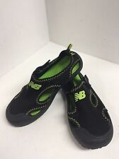 Boys girls water shoes toddler size 12  NEW BALANCE  black green F11