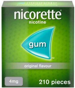 "Nicorette ORIGINAL Flavour Gum 4 MG  210 Pieces   """"""SHIPS FAST SHIP FROM USA"""""""