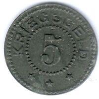 Stralsund-Stadt (Pommern) 5 Pfennig 1917 (Zink) Funck 523.1, zap., ss