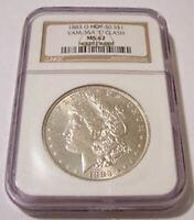 1883 O Morgan Silver Dollar VAM-36A HOT-50 E Clash R6 MS62 NGC