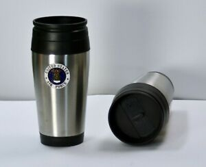 Air Force Stainless Steel 16oz. Insulated Coffee Travel Cup Tumbler No Spill Lid
