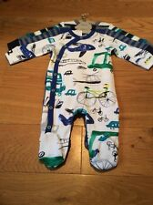 Next Baby Boys grenouillères 0-1 Mois BNWT-Next auto bébé Baby Grows Outfit