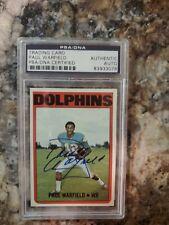 1972 Topps Paul Warfield Autograph PSA/DNA  #167