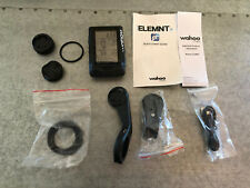 Wahoo ELEMNT GPS Cycling Computer, ZERO SCRATCHES, EXCELLENT w/ extras