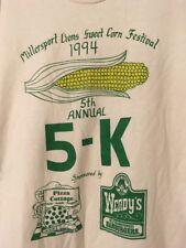 Vintage 1994 Millersport Ohio Sweet Corn Festival 5K Race T-Shirt Large Wendy's