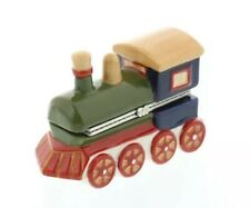 Villeroy & Boch Porcelain Hand Painted Toy Train Trinket Box Gift