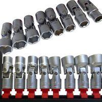 """8pc Universal Joint Socket Set Metric Folding Flexi On Rail 3/8""""dr 10-19mm 6pt"""