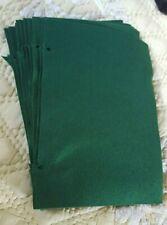 "13 soft new felt sheet fabric remnant scrap craft forest emerald green 13"" x 9"""