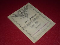 [Coll.J. DOMARD SPORT] PROGRAMME CONCOURS MILITAIRE INTERALLIE 1920 OPPELN (Sil)