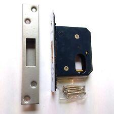 Keypsafe Satin Chrome Oval Profile Mortice Deadlock - 76mm Case