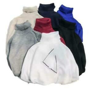 Winter Mens New Turtleneck Sweater Knitted Thicken Pullover Base Shirts S-5XL D
