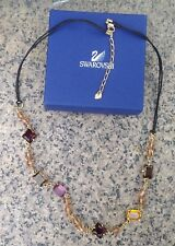 Rare Authentic Vintage Signed Swarovski Necklace Charms Pendant Mixed Crystals