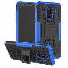 para Samsung Galaxy A6 A600 2018 Carcasa híbrida 2 piezas EXTERIOR AZUL FUNDA