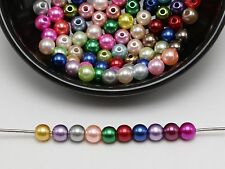 500 Pcs Mixed Colour Plastic Faux Pearl Round Beads 6mm Imitation Pearl