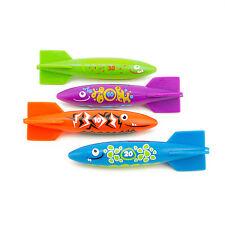Kids Rocket Torpedo 4 pc Splash Dive Swimming GLide Aqua Pool Fun Game Toy