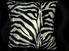 Zebra Print Pillow Cover Faux Fur Pillow 16 x 16 (Set of 2)
