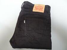 "LEVIS 511 Jeans Slim Leg Fit Black Stretch Denim SIZE W32 L32 Waist 32"" Leg 32"""