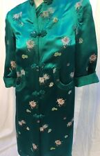 Vintage Japanese Oriental Chinese S Kimono Jacket Robe Silk Tapestry with frogs
