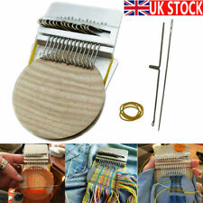 More details for 14hooks small loom-speedweve type weave tool darning machine with wooden disc uk
