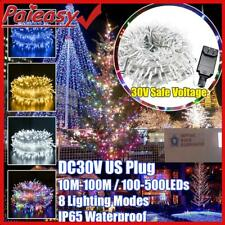 100/500 LED Micro Rice Wire Copper Garland Fairy String Lights Party US Plug HOT