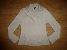 Women's Gant Chunky Cream Beige Classic Collar Button Up Cardigan Top Size M/ P