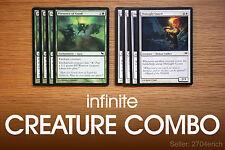 Infinite Elf Creature Tokens Combo / Midnight Gond (Green White Pauper) MTG Lot