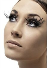 Feather Plume Eyelashes Black New Adult Halloween Cristmas Womens Makeup Fever