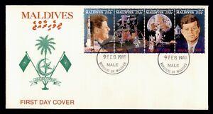 DR WHO 1989 MALDIVES FDC SPACE JFK  C239863