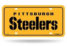 Pittsburgh Steelers Yellow Wordmark NFL 12x6 Auto Metal License Plate Tag