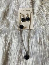 3 Piece Black Jewellery Necklace Set Gift Fashion Costume