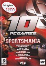 10 PC Spiele-sportsmania (PC, DVD-ROM) Neu Versiegelt Sport Fußball Kinder (DB6)