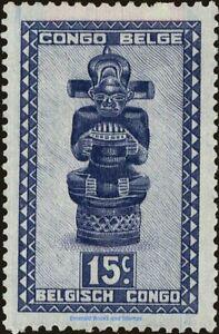 "EBS Belgian Congo 1948 - Carved Native Idol ""Tshimanyi"" - BE-CD 264 MNH**"
