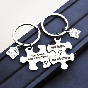 1pair Best Friend Key Chain Gifts Housewarming Gift Homeowner House Keyring BKN