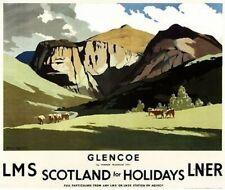 "Glencoe Lms Scotland For Holidays LNER Photo Fridge Magnet  2""x3"""