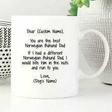 Personalized Norwegian Buhund Dad Mug, Norwegian Buhund Dad Gift, Dog Lover Gift