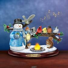 The Thomas Kinkade Winter Glow LED Christmas Snowman Hawthorne Village