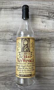 - Buy It Now $36 - Old Rip Van Winkle 10 year empty Bourbon bottle Pappy Whisky