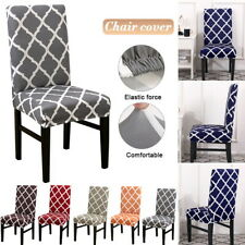 Elasitc Chair Covers Slipcovers Dinning Room Seat Protector Banquet Home Decor